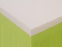 colchon viscolastico verde blanco esquina